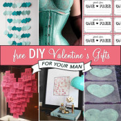 Free DIYValentines Day gifts for our man