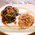 Spicy Sauteed Chicken and Sweet Potato Hash