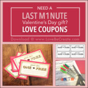 Love coupons last minute Valentines Day gift
