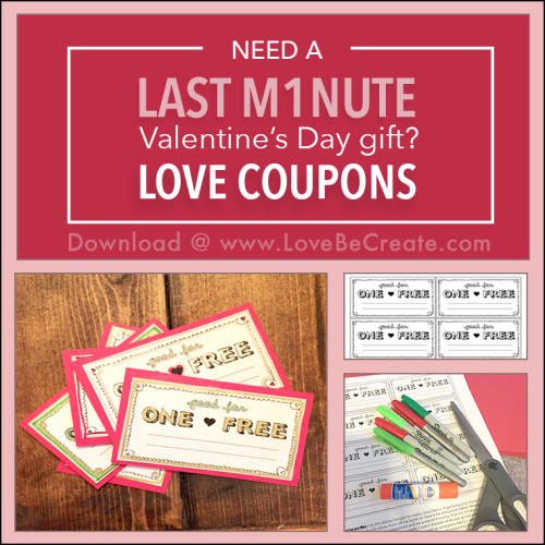 last minute valentine's day gift - free downloadable love coupons, Ideas