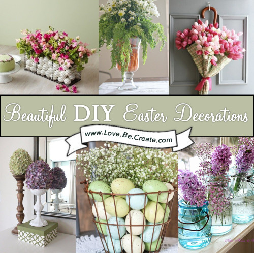 Beautiful diy easter decorations for How to make easter decorations for the home