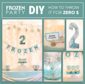 DIY Frozen Party for zero dollars