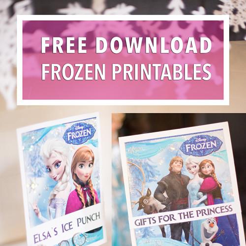 Frozen Birthday Banner Printable Frozen Banner Party By: Frozen Birthday Party Signs & Banners