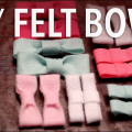 DIY FELT bows video