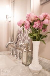 Bathroom makeover on a dime grey white carrara marble luxury-26