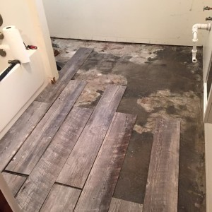 floor before vanity laid 1