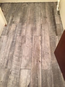 floor before vanity was laid