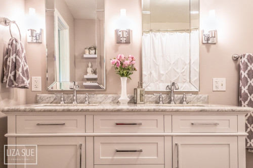 design on a dime bathroom 2 900 luxury looking bathroom remodel lovebecreate 23539